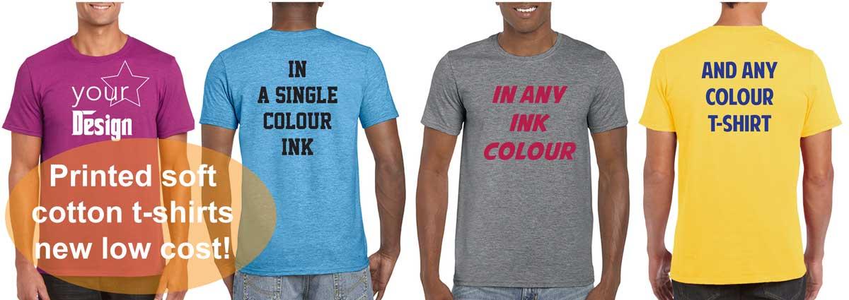 13752971e14 50 Printed SoftStyle t-shirts